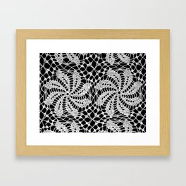 lace ornament 2 Framed Art Print