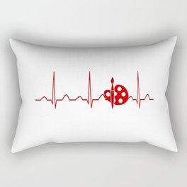 PAINTING HEARTBEAT Rectangular Pillow