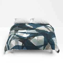 Abstract Whale Monotone Comforters