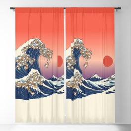 The Great Wave of Shiba Inu Blackout Curtain