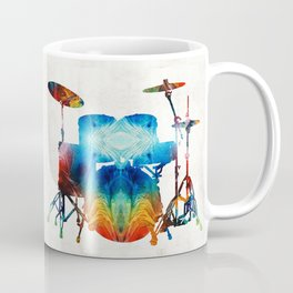 Drum Set Art - Color Fusion Drums - By Sharon Cummings Coffee Mug