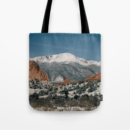 Snowy Mountain Tops Tote Bag