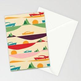 50s Retro Road Trip Beige #midcenturymodern Stationery Cards