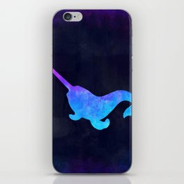 NARWHAL IN SPACE // Animal Graphic Art // Watercolor Canvas Painting // Modern Minimal Cute iPhone Skin