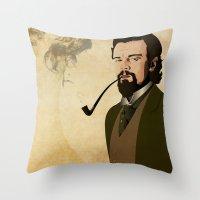 django Throw Pillows featuring Django  by William Rutherford