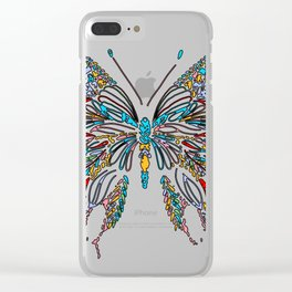 Colorful Buttery Wall Art Clear iPhone Case