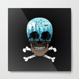 Death City - Skyline Metal Print
