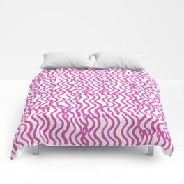 Pink Wavey Comforters