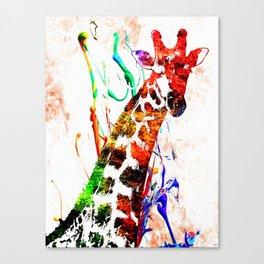 Giraffe Grunge Canvas Print