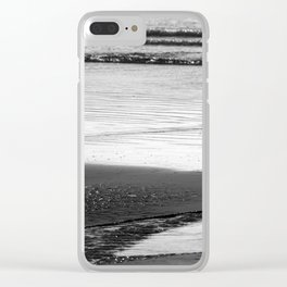 Standoff At The Beach Clear iPhone Case