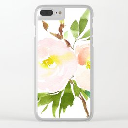 Watercolor Florals - Pink Roses - Blush Flowers by Dear Lily Mae Clear iPhone Case