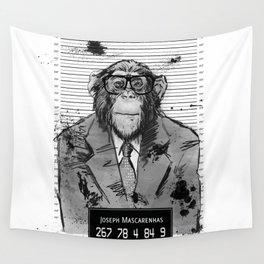 Monkey Mugshot Wall Tapestry