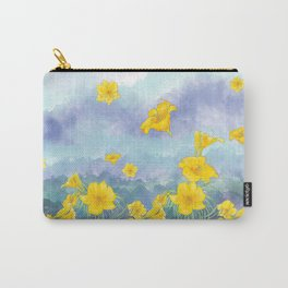 Stella D'Oro Daylily flowers over clouds Carry-All Pouch