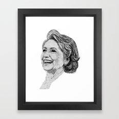 Hillary Clinton Framed Art Print
