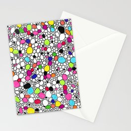 Circles and Other Shapes and colors Stationery Cards