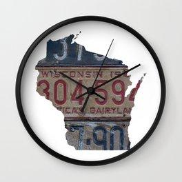 Vintage Wisconsin Wall Clock