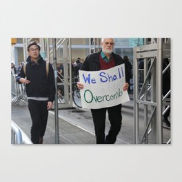 We Shall Overcomb - Women's March NYC Canvas Print