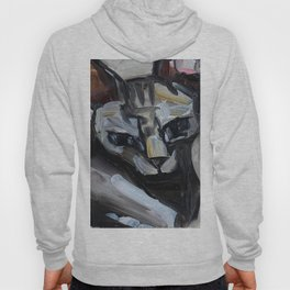 Cat, lying animal Hoody