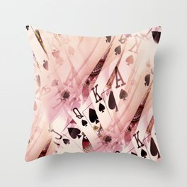 Play The Hand Throw Pillow