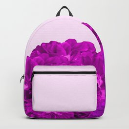 Purple Peonies On A Pink Background #decor #society6 #buyart Backpack