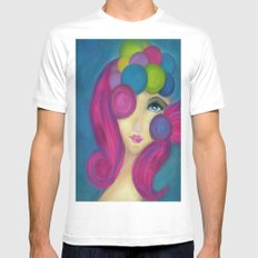 Blue Face Girl w/o Quote White Mens Fitted Tee MEDIUM