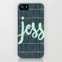 Jess - Mint/ Navy iPhone Case