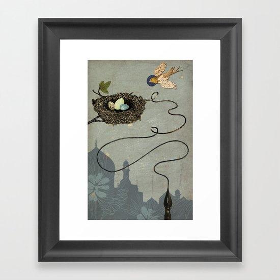 Bird's Winged Flight Framed Art Print