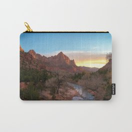 The Watchman Sunset Zion National Park Mountain Landscape Carry-All Pouch