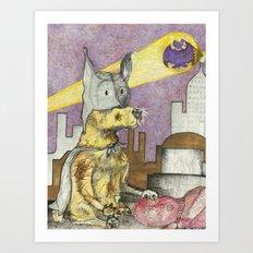 BatPaw Art Print