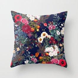 Midnight Garden VI Throw Pillow