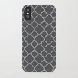 Grey Trellis iPhone Case