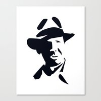 indiana jones Canvas Prints featuring Indiana Jones by Gavin Foster