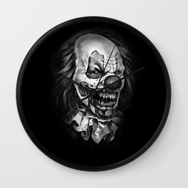 horror clown Wall Clock