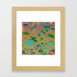 Chinese Ombre Pattern Framed Art Print