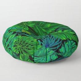 Fancy Tropical Floral Pattern Floor Pillow