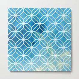 Geometric Crystals: Stormy Sea Metal Print