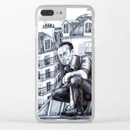 Paris rooftop Clear iPhone Case