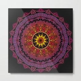 Black Widow Mandala  Metal Print