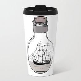 The ship in the glass bulb . Artwork Travel Mug