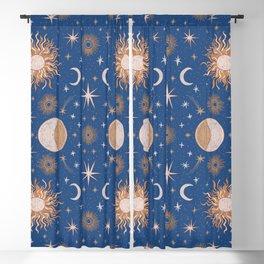 Moon Sun Stars Blackout Curtain