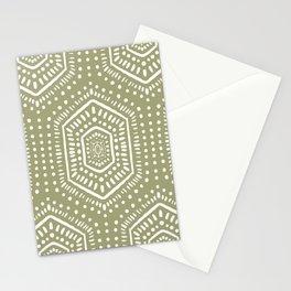 Boho Painted Light Olive Stationery Cards