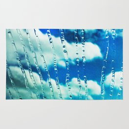 444 - Raindrops on glass Rug