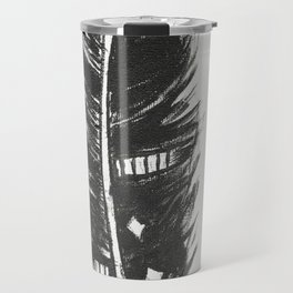 Black feather painting - abstract black feather Travel Mug
