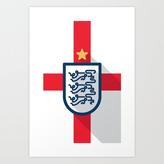 England Minimal Art Print