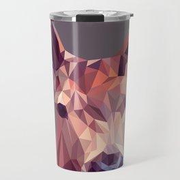 Colorful Polygons Abstract Deer Travel Mug