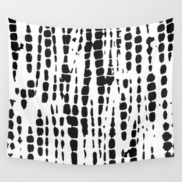 Black and White Tie Dye Wall Tapestry