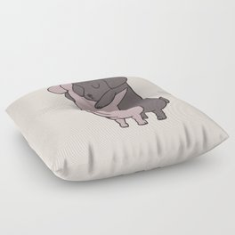 Dachshund Hugs Floor Pillow