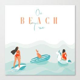 Beach time Canvas Print
