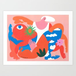 Busy Boaster Art Print