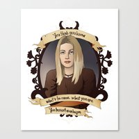 buffy the vampire slayer Canvas Prints featuring Tara - Buffy the Vampire Slayer by muin+staers